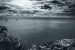 Opinión del mar de Phangan?. Fotos de archivo