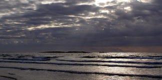 Opinión del mar de Sennen Fotos de archivo
