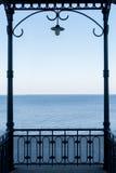 Opinión del mar de un pabellón Imagen de archivo libre de regalías