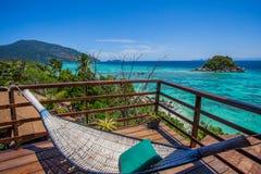 Opinión del mar del balcón Fotos de archivo libres de regalías