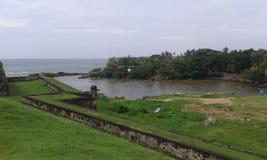 Opinión del mar del fuerte de Galle Fotografía de archivo