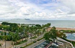 Opinión del mar del hotel en Pattaya Fotos de archivo libres de regalías