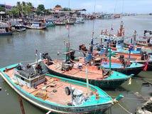 Opinión del mar del puerto Fotos de archivo libres de regalías