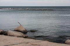 Opinión del mar en Bari Imagen de archivo