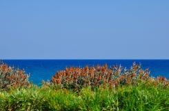 Opinión del mar en el puerto de Heraklion, Grecia Fotografía de archivo libre de regalías