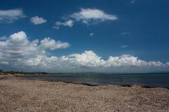Opinión del mar en Katakolon, Grecia Foto de archivo libre de regalías