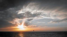 Opinión del mar en la puesta del sol en Tel Aviv foto de archivo libre de regalías