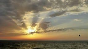 Opinión del mar en la puesta del sol en Tel Aviv imagen de archivo libre de regalías