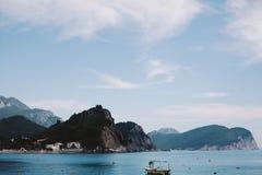 Opinión del mar en Montenegro Imagenes de archivo