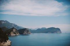 Opinión del mar en Montenegro Imagen de archivo libre de regalías