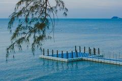 Opinión del mar en Tailandia Fotografía de archivo