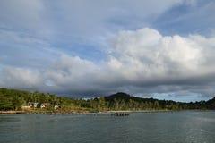 Opinión del mar en Tailandia Imagen de archivo libre de regalías
