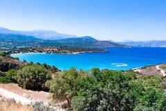 Opinión del mar, isla de Creta Imagen de archivo