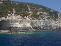 Opinión del mar, isla de Paxos y de Antipaxos, Grecia Fotos de archivo libres de regalías