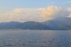 Opinión del mar Marmaris Turquía Foto de archivo libre de regalías