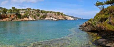 Opinión del mar Mediterráneo Foto de archivo libre de regalías