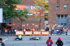 Opinión del maratón de 2014 NYC sobre la 1ra avenida Fotografía de archivo libre de regalías