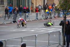 Opinión del maratón de 2014 NYC sobre la 1ra avenida Foto de archivo