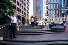 Opinión del mediodía al centro de la ciudad de Los Ángeles Fotografía de archivo