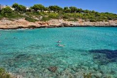 Opinión del mendia de Cala sobre el majorca Balearic Island en España Fotografía de archivo libre de regalías
