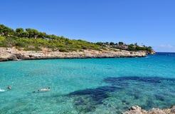 Opinión del mendia de Cala sobre el majorca Balearic Island en España Foto de archivo