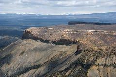 Opinión del Mesa en parque nacional del Mesa Verde Imagen de archivo libre de regalías