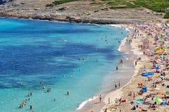 Opinión del mesquida de Cala sobre el majorca Balearic Island en España Fotos de archivo libres de regalías