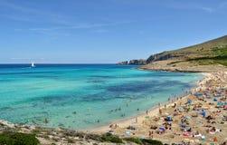 Opinión del mesquida de Cala sobre el majorca Balearic Island en España Fotos de archivo
