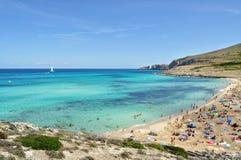 Opinión del mesquida de Cala sobre el majorca Balearic Island en España Fotografía de archivo libre de regalías