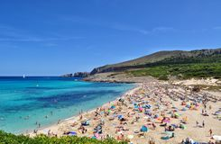 Opinión del mesquida de Cala sobre el majorca Balearic Island en España Foto de archivo libre de regalías