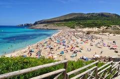 Opinión del mesquida de Cala sobre el majorca Balearic Island en España Imagen de archivo libre de regalías