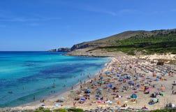 Opinión del mesquida de Cala sobre el majorca Balearic Island en España Fotografía de archivo