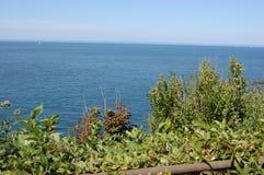 Opinión del norte Long Island Sound del agua de la orilla Imagen de archivo libre de regalías