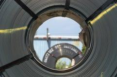Opinión del ojo de la bobina imagen de archivo libre de regalías
