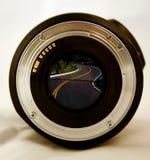 Opinión del ojo de la lente fotografía de archivo