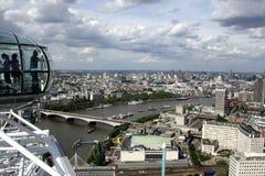 Opinión del ojo de Londres fotografía de archivo libre de regalías