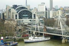 Opinión del ojo de Londres Foto de archivo