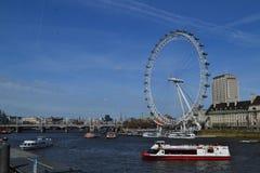 Opinión del ojo de Londres fotografía de archivo