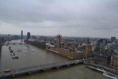 Opinión del ojo de Londres fotos de archivo