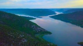 Opinión del ojo de pájaro de Croacia, Europa; Naturaleza hermosa de la isla de Mljet en Croacia fotografía de archivo libre de regalías