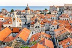 Opinión del ojo de pájaro de Dubrovnik imagen de archivo