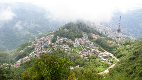 Opinión del ojo de pájaro de Gangtok, Sikkim imágenes de archivo libres de regalías