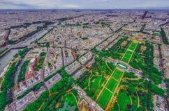 Opinión del ojo de pájaro de la ciudad de París Fotografía de archivo