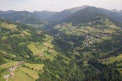 Opinión del ojo de pájaro de las montañas de Carinthia Kaning Nocky del viaje de Flightseeing Fotos de archivo libres de regalías
