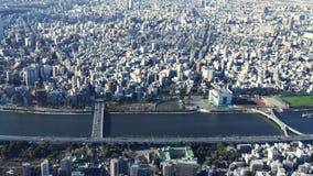 Opinión del ojo de pájaro de la ciudad de Tokio