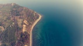 Opinión del ojo del ` s del pájaro de la orilla de mar Fotos de archivo
