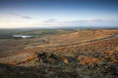 Opinión del otoño de los valles de Yorkshire Fotos de archivo libres de regalías