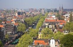 Opinión del pájaro de Amsterdam Fotos de archivo