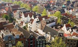 Opinión del pájaro de Amsterdam central Imagen de archivo libre de regalías