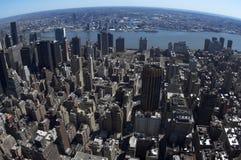 Opinión del pájaro de Manhattan del este Foto de archivo libre de regalías